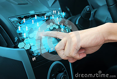 Pushing on a touch screen interface navigation system