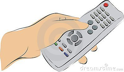Pushing a TV remote