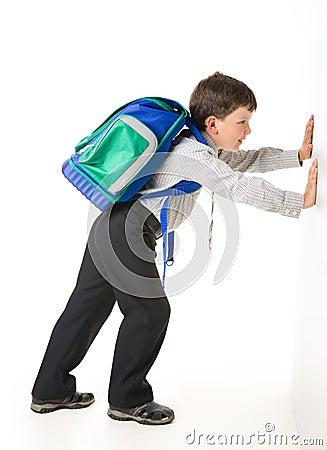 Pushing Wall Stock Images Image 5865764