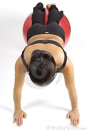 Pushup fitball