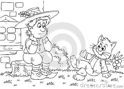 Puss in de besprekingen van Laarzen aan zijn eigenaar