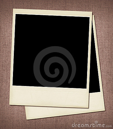 Puste miejsce obramia polaroid