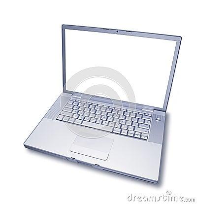 Pustego komputeru odosobniony laptop