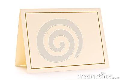 Pustej karty powitanie