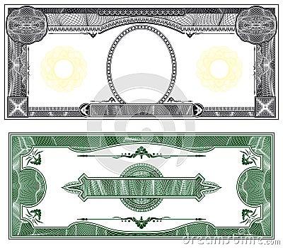 Pusty banknotu układ