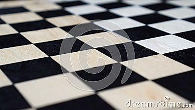 Pusty drewniany chessboard jest płodozmienny zbiory wideo