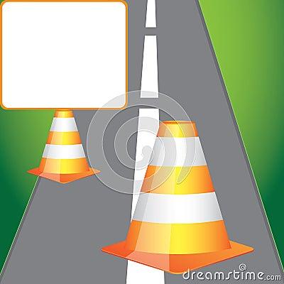 Pusty drogowy znak