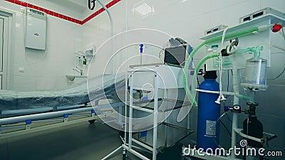 Pusty pokój szpitalny z systemem wentylacji medycznej zbiory