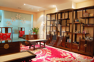Put in Chinese furnitures of indoor