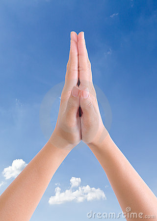 Put Hands Together In Salute Royalty Free Stock Photos - Image ...