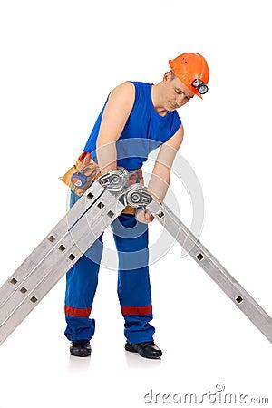 Put together step-ladder
