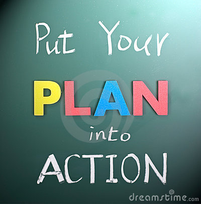 Free Put Your Plan Into Action Stock Images - 18556254