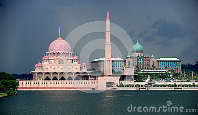 1. Putra Mosque 2. Perdana Putra building Editorial Photography