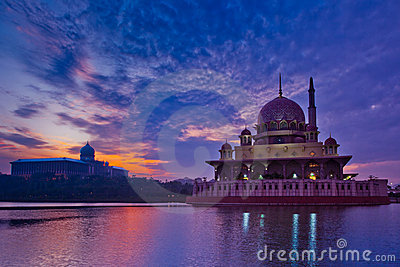 Putra Mosque and Sunrise