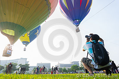 Hot Air Balloon Fiesta Editorial Photography