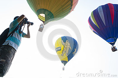 Hot Air Balloon Fiesta Editorial Stock Photo