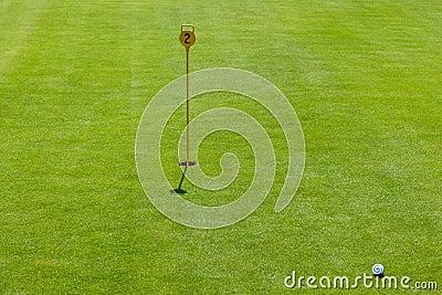 Putt at golf course