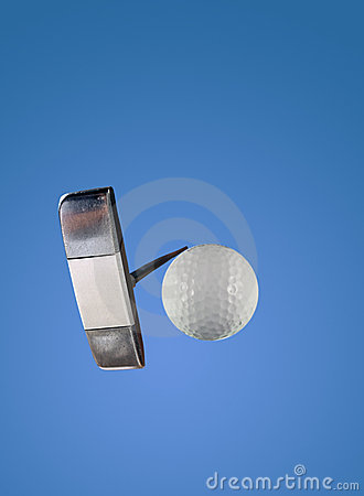 Putter and Golf Ball