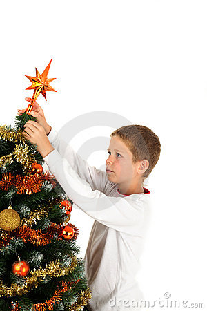 Putting christmas star