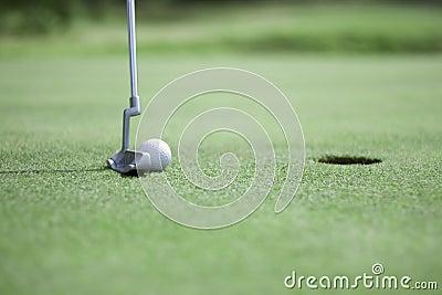 Putting golf ball