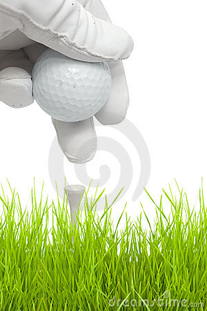 Free Putting Golf Ball On A Tee Royalty Free Stock Images - 8450999