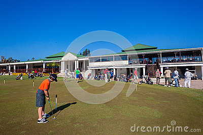 Putting Green Players Club Editorial Stock Photo