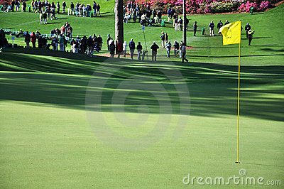 Putting Green at the Masters Editorial Stock Photo