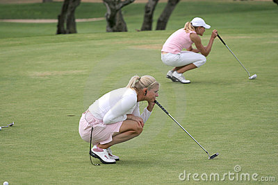 Putting, Ladies European Tour, Castelllon, 2006 Editorial Photography