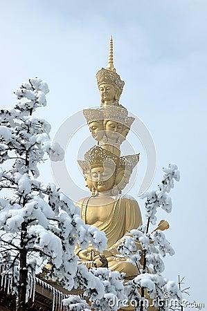 Free Puxian Buddha At Mt Emei Royalty Free Stock Photo - 12349765