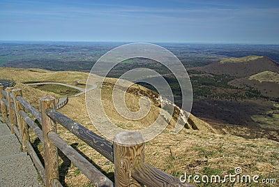 Puy de Dome mountaintop