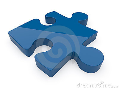 Puzzle. 3D illustration on a white background