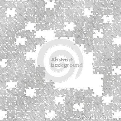 Puzzle aluminium background