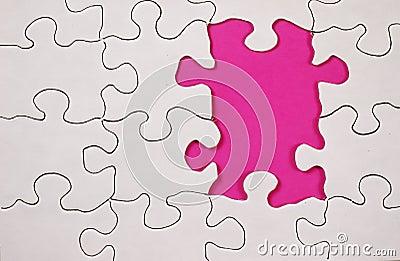 Puzzle avec le fond rose