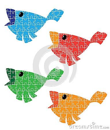 Puzzle bird set