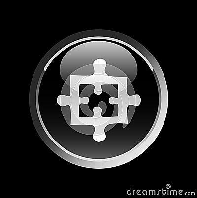 Puzzle on black button