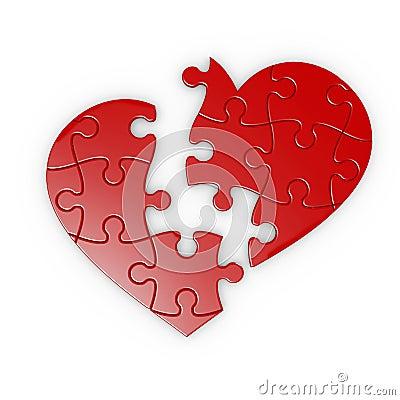 Puzzle of a broken heart