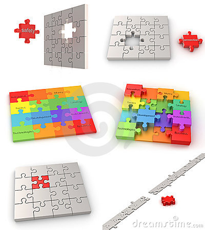 Puzzle business concepts