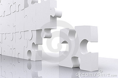 Puzzle for business teamwork