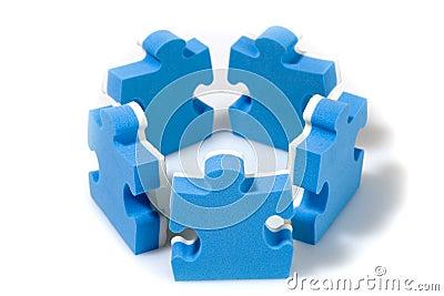Puzzle concept teamwork