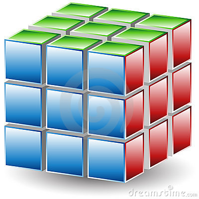 Free Puzzle Cube Stock Photo - 14591970