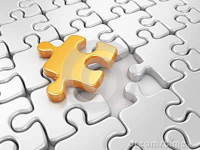 Puzzle 3D. Innovate business background