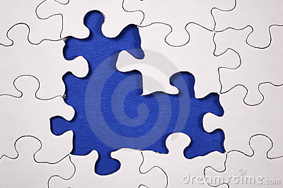 Puzzle With Dark Blue Background