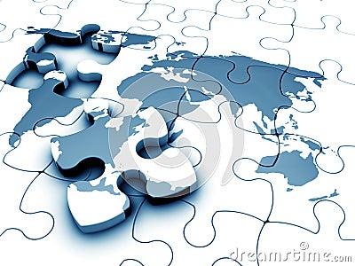 Puzzle del mondo fotografie stock libere da diritti - Collegamento stampabile un puzzle pix ...