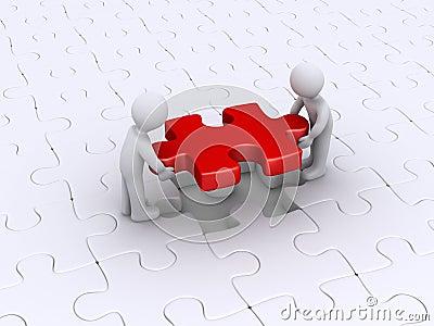 Puzzle di rivestimento di due persone