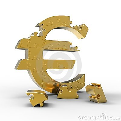 Puzzle of a Euro sign