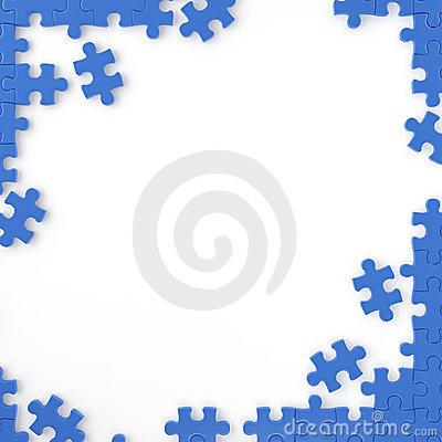 autism jigsaw border frame stock illustration image 48677501