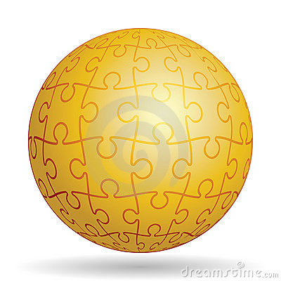 Puzzle golden ball