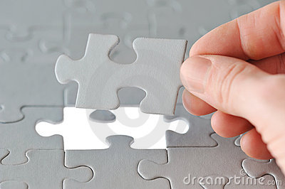 Puzzle with Hand