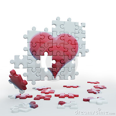 Free Puzzle Heart2 Stock Photography - 12552392