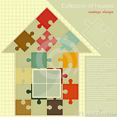 Puzzle house. Concept - Construction